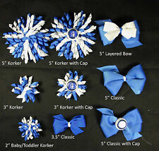 Duke Blue Devils Themed Korkers Classic Layered Toddler Hair bows UPICK