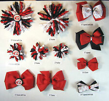 Cincinnati Reds Themed Hair Bows Korkers Classic Bottle Caps U-Pick