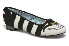 Women's Irregular Choice Cheshire Flat Rounded toe Ballet Pumps in Black