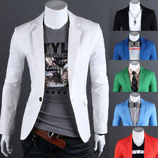 New Fashion Casual Stylish Mens Slim Fit One Button Suit Jacket Blazers Top Coat