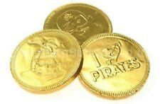FOILED PIRATE COINS LARGE 35MM BELGIAN MILK CHOCOLATE IDEAL PARTY BAG  GOLD FOIL