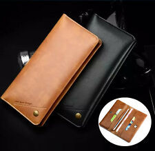 Universal Luxury Flip Leather Wallet Card Pouch Case Cover For iPhone 7/7 Plus