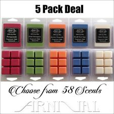 5 x Highly Scented 100% SOY WAX MELTS PACK DEAL 500hr candle TARTS for burners