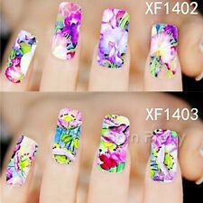 1 Sheet Flower Painting Floral Pattern Nail Art Water Decals Transfers Sticker