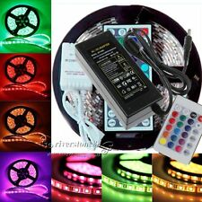 5M/10M/15M 3528 5050 5630 3014 RGB SMD Flexible Light LED Strip Power Remote