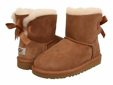 Children's Shoe UGG Kids Mini Bailey Bow Boots 1005497Y Chestnut *New*