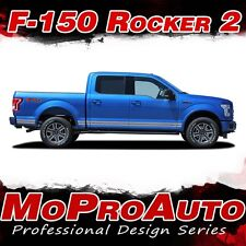 2015-2016 F-150 ROCKER TWO Lower Side Panel Solid Decals Stripes Vinyl Graphics