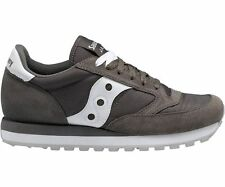 Saucony JAZZ ORIGINAL Mens Charcoal/White Lace Up Casual Sneakers Shoes