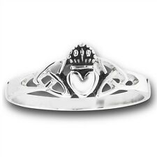 Stainless Steel Ring Jewelry CELTIC RING Claddagh Claddaugh Cladagh Size 5-13