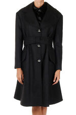 VIVIENNE WESTWOOD RED LABEL New woman Black wool blend Coat Jacket Made Italy
