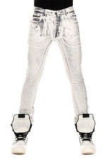 RICK OWENS DRKSHDW New Men white GRAVEL DETROIT Jeans Denim made in italy