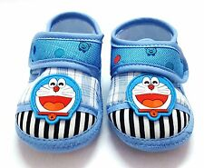 Baby/Kids Cotton Super Soft Doraemon booties/Shoes for Girls & Boys (0-6 Months)