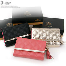 Omnia g0651 Tiffany Woman's Genuine Leather Cowhide Long Wallet Luxury Special