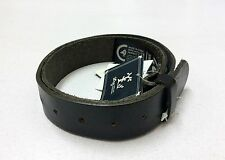 New LIFTED RESEARCH GROUP (L-R-G) LEATHER BELT (WITHOUT BUCKLE) BLACK SMALL