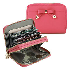 Fromb g0891-2 Bonnie Woman's Genuine Leather Cowhide Two Zipper Card Wallet Bag