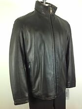 Andrew Marc New WT Black Glove touch LAMB  Jacket , w Bib and Faux collar