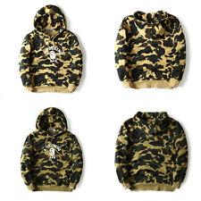 New Bape A Bathing Ape Unisex Fashion Camo Pullover Men's Hoodie Sweats Coat