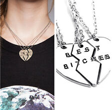 3pc/set Broken Heart Partners in Crime Best Friend Forever Friendship Necklaces