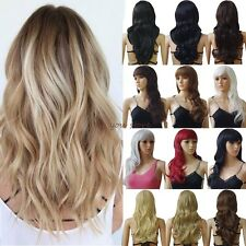 Wigs Long Curly Straight Full Hair Cosplay Party Daily Fancy Dress Medium Length
