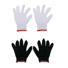 12 Pairs Nylon Safety Coating Work Gloves Builders Grip Protect S M L KUY