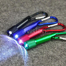 Mini LED Torch Flashlight Carabiner Clip Hook Keychain Outdoor Hiking Camping