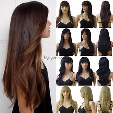 Synthetic Hot Wig Long Curly Straight Full Hair Cosplay Party Daily Fancy Dress