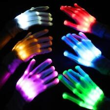 Multi-Color Electro LED Flashing Gloves Light Up Halloween Dance Rave Party Fun