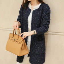 New Women Casual Long Sleeve Knitted Cardigan Sweaters Tricotado Cardigan JC