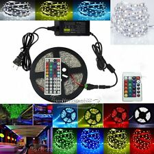 5050 3528 5630 Strip LED Strip Light SMD 150-600leds Power DC IR Remote For Xmas