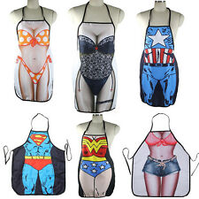 Hot Funny Sexy Naked Women Men Home Kitchen Cooking BBQ Apron Durable  SH