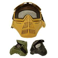 Outdoor Airsoft Pro Full Face Mask with Safety Metal Mesh Goggles Protection UK