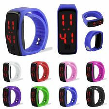 New Men Womens Silicone Red LED Watches Sport Bracelet Touch Digital Wrist Watch