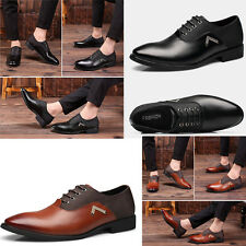 Mens Business Casual Leather Dress Formal Lace Up Shoes Pointy Toe ShoeStretcher