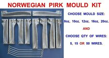 NORWEGIAN LEAD WEIGHT PIRK MOULD KIT FOR SEA FISHING BOAT ROD LURES GILL PIRKS