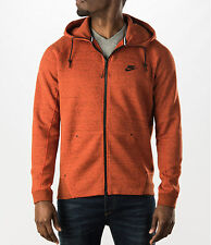 Nike Men's Tech Fleece AW77 Full Zip Hoodie Jacket Orange 559592-891 XL