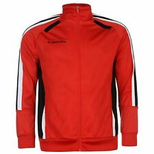 Diadora Cape Town Track Jacket Mens Red/Black Zip Tracksuit Top Football Soccer