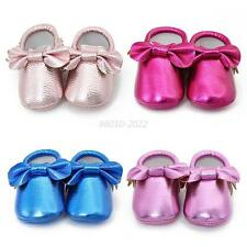 Cute Kids Tassel Baby Soft Sole Leather Shoes Boy Girl Infant Toddler Prewalker