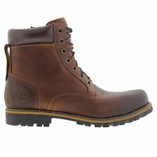 Timberland Rugged 6 Inch Waterproof Plain Toe  Brown Mens Boots