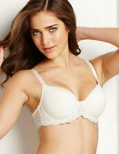 Wacoal Embrace Lace Moulded Underwired Contour Bra 853191 Gardenia Ivory * New