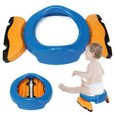 Foldable Portable Travel Potty Chair Toilet Seat For Baby Kids Plastic Seat New