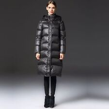 2016 New Winter Womens Parka Thick Duck Down Jacket Hooded Warm Long Coat