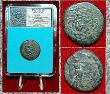 Ancient Greek Coin PONTOS AMISOS Medusa Gargona and Nike on Reverse