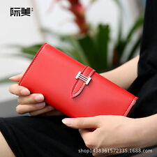 Women's Long Buckle Wallet Large Capacity ID Card Holder Case Clutch Checkbook