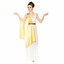 Ladies Gold Greek Goddess Aphrodite Athena Halloween Fancy Dress Party Costume