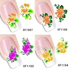1Sheet Daisy Flower Pattern Nail Art Water Decals Transfer Stickers