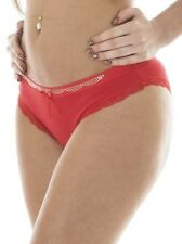 New Ladies diamante Lace Highly elasticated Bow Knickers Size 10 12 14 16