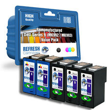 REMANUFACTURED DELL MK992 MK993 - 5 INK CARTRIDGE SUPER SAVER VALUE PACK