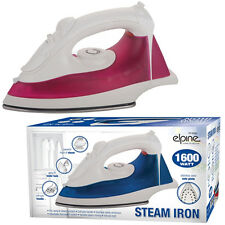 1600W ELECTRIC COMPACT STEAM SPRAY IRON STAINLESS STEEL NON-STICK SOLEPLATE WATT