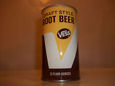 VESS ROOT BEER DRAFT STYLE STRAIGHT STEEL PULL TAB SODA POP CAN ST. LOUIS MO.