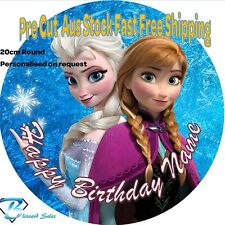 20cm Round Frozen Edible Image Icing or Wafer Cake Topper Kids Birthday